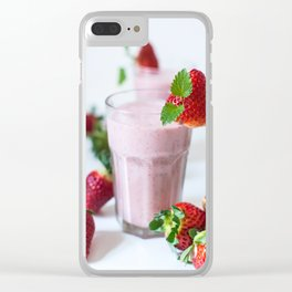 Strawberry Smoothie Clear iPhone Case