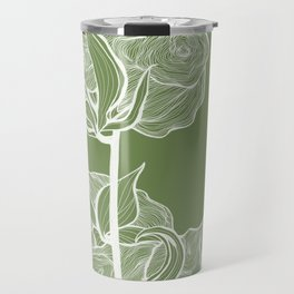 Cotton in Green Travel Mug