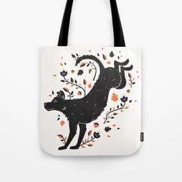Dogs of Fall - Orange Palette Tote Bag