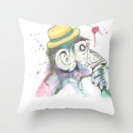 Hmm Throw Pillow
