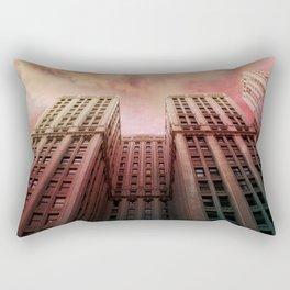 Fire Over The Loop Rectangular Pillow