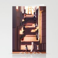 street Stationery Cards featuring street by shoua yang