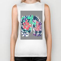 lungs Biker Tanks featuring Lungs by LAM Hamilton