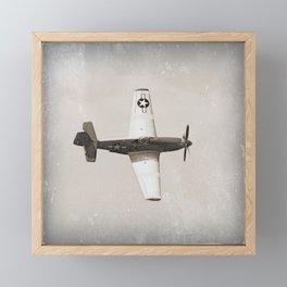 Antique Fighter Airplane Framed Mini Art Print