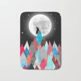 Wolf on Blue Peak Bath Mat