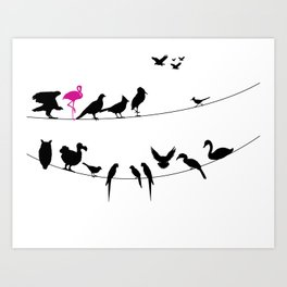 Best Bird Buddies Art Print