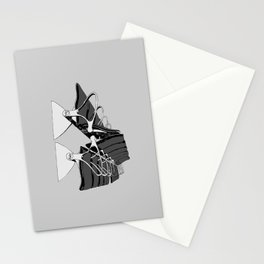 Airport Chairs Grey Stationery Cards