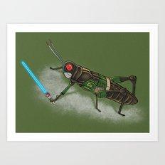Locust Rider Black RX Art Print