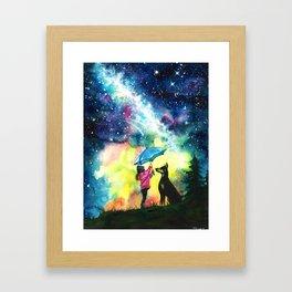 Raining stars Framed Art Print