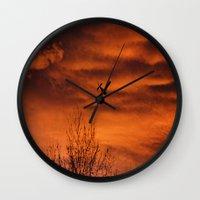 plane Wall Clocks featuring Plane by Fox Industries