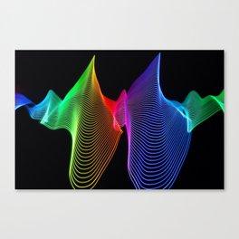 Rainbow Sound Waves Light Painting Canvas Print