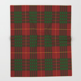 Cameron Red & Green Tartan Pattern #2 Throw Blanket