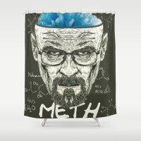heisenberg Shower Curtains featuring Heisenberg by Maioriz Home