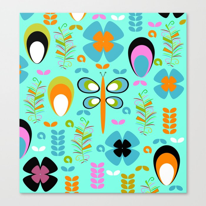 Dragonfly in the garden Canvas Print