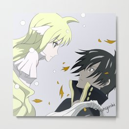 fairytail zeref x mavis Metal Print