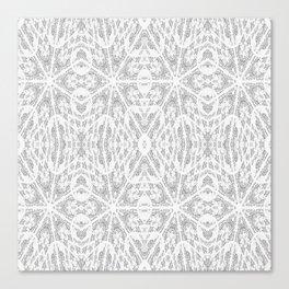 Pattern Grey / Gray Canvas Print