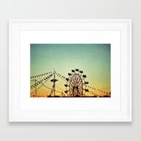 friday night lights Framed Art Prints featuring Friday Night by Beverly LeFevre