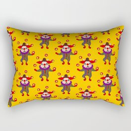 Clown Dog Frenchie entertains you with love and cuteness Rectangular Pillow