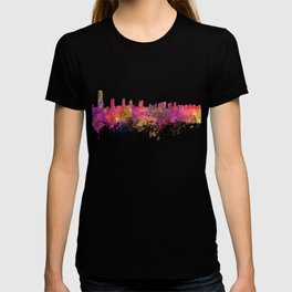 Jersey City skyline in watercolor background T-shirt