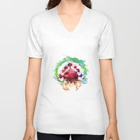 metroid V-neck T-shirts featuring Metroid Watercolor by Insomniac