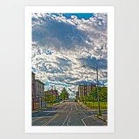 dwight Art Prints featuring Dwight st by Drv Photo