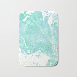 Marble texture background, white blue green marble pattern Bath Mat