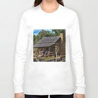 tennessee Long Sleeve T-shirts featuring Tennessee Mountain Home by Exquisite Photography by Lanis Rossi