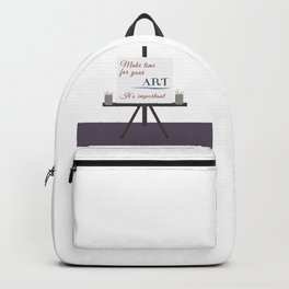 Make Time For Art (Colorful Calligraphy) Backpack