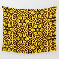 damask Wall Tapestries featuring vintage damask by clemm