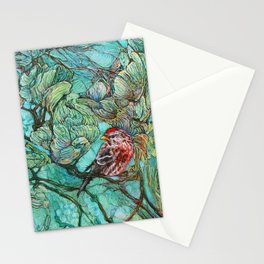 The Aquamarine Labyrinth (detail no. 2) Stationery Cards