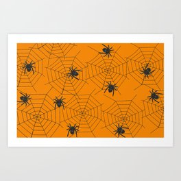 Halloween Spider Illustration Art Print
