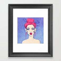 Selfie girl_3 Framed Art Print