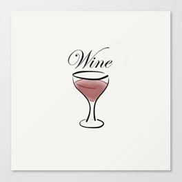 Wine. Canvas Print