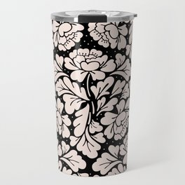 Baroque pink and black Travel Mug