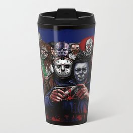 Horror Villains Selfie Metal Travel Mug