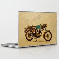 ducati Laptop & iPad Skins featuring Ducati 125 Aurea 1958 by Larsson Stevensem