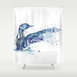 Loon - My Fathers Loon Shower Curtain