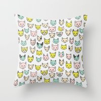kittens Throw Pillows featuring Kittens by Elisa MacDougall