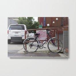 Chinatown bike Metal Print