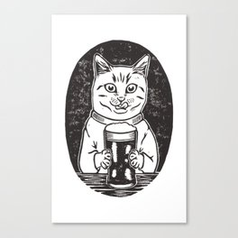 Thirsty Cat Canvas Print