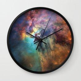 Lagoon Nebula 2 Wall Clock