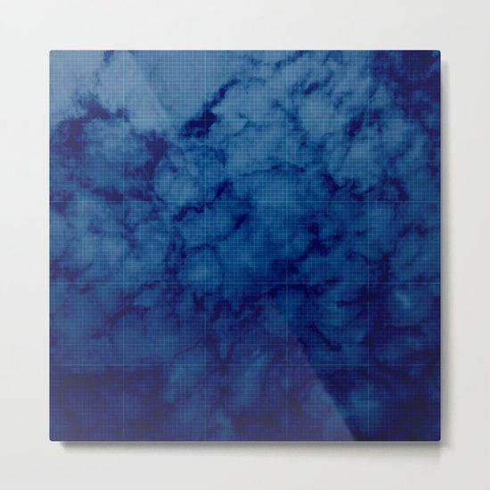 Sky blue print Metal Print