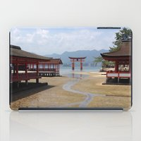 greg guillemin iPad Cases featuring Itsukushima Shrine - Greg Katz by Artlala for MSF Doctors Without Borders