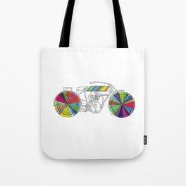 Rainbow Cycle Tote Bag