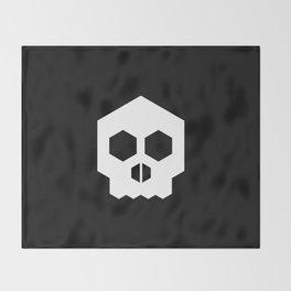 hex geometric halloween skull Throw Blanket