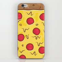 pizza iPhone & iPod Skins featuring Pizza by Michael Walchalk