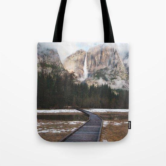 Yosemite Falls at Winter | Yosemite National Park, California Tote Bag