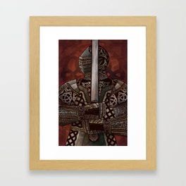 The Knotted Knight Framed Art Print