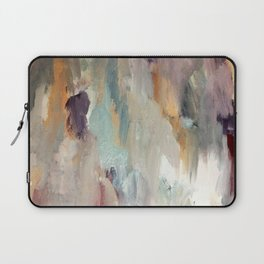 Gentle Beauty [4] - an elegant acrylic piece in deep purple, red, gold, and white Laptop Sleeve