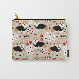 Corgi Casino cute dog accessories dog dogs vegas poker Carry-All Pouch